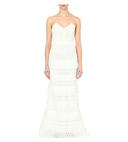 7d37cd2255c3 SELF-PORTRAIT - Penelope lace-embroidered wedding dress | Selfridges.com