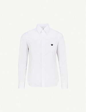 COMME DES GARCONS PLAY Embroidered-heart cotton shirt