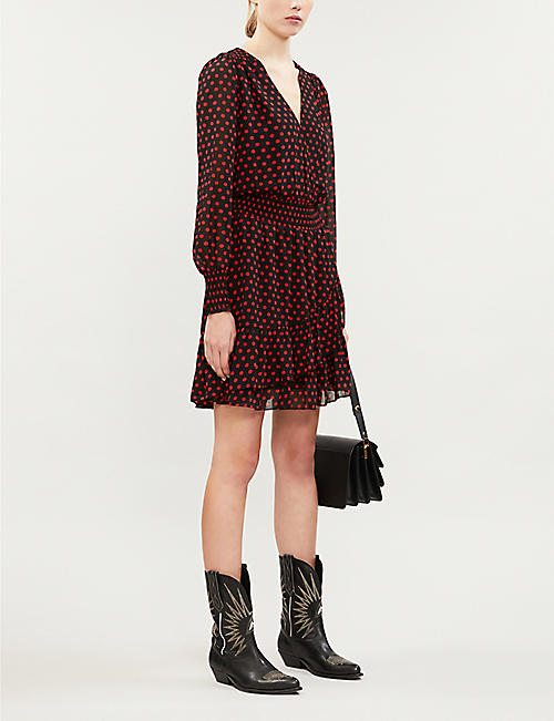 MICHAEL MICHAEL KORS Polka-dot crepe midi dress