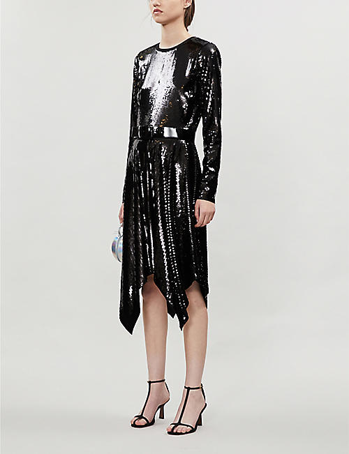 MICHAEL MICHAEL KORS Belted sequin mini dress