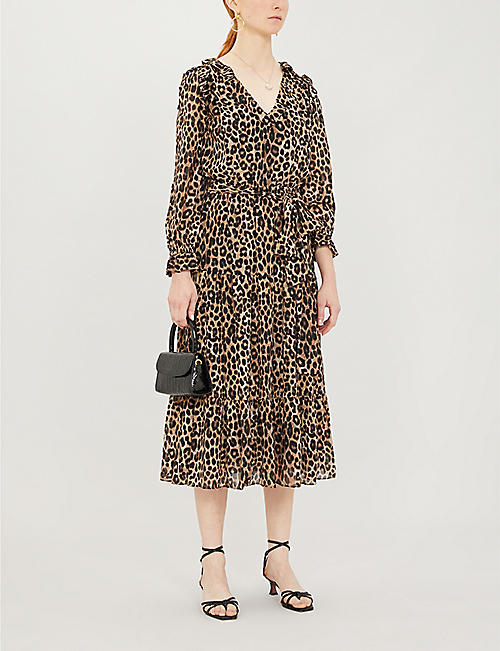 MICHAEL MICHAEL KORS Cheetah-print crepe dress