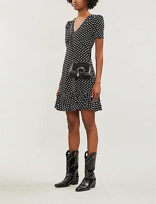 MICHAEL MICHAEL KORS Dot-patterned stretch-jersey dress