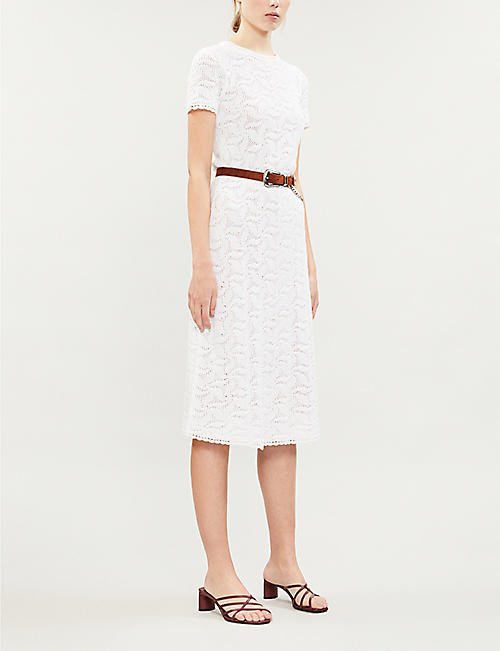 MICHAEL KORS Swirling cotton-crotchet midi dress