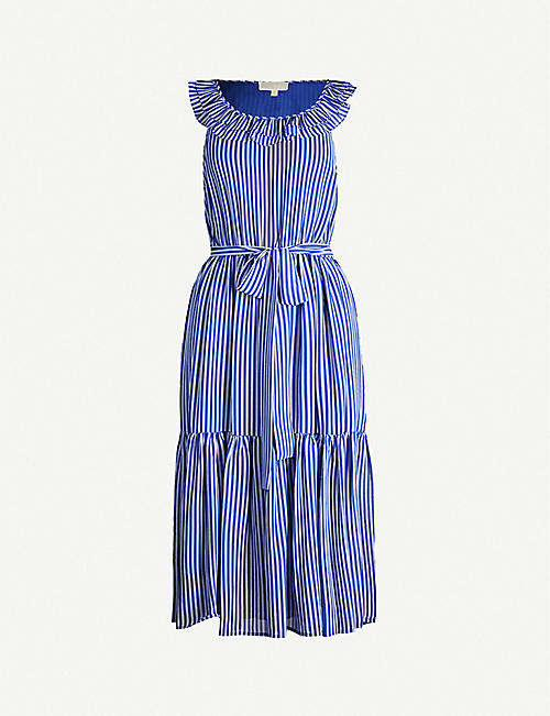 MICHAEL KORS Railroad crepe maxi dress