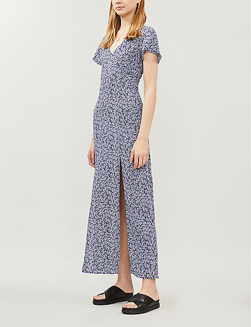 MICHAEL MICHAEL KORS Reef-print crepe maxi dress