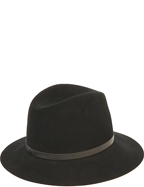 RAG & BONE Trimmed wool fedora