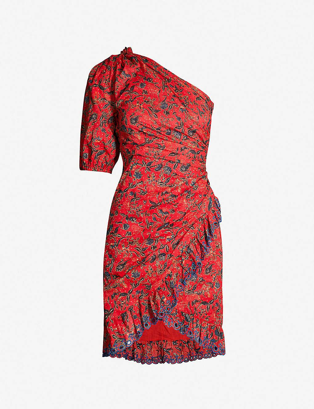 91c39b9516d ISABEL MARANT ETOILE - Esther one-shoulder cotton dress | Selfridges.com