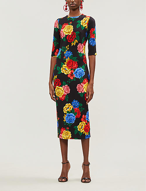 ALICE & OLIVIA Delora floral-print stretch-jersey dress