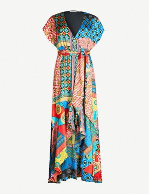7feba66abe58 ALICE & OLIVIA - Jenny floral-print devoré dress | Selfridges.com