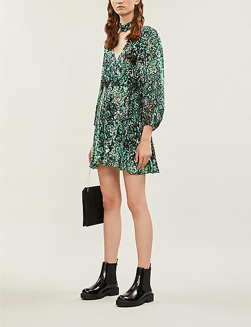 ALICE & OLIVIA Rita jacquard-pattern woven mini dress