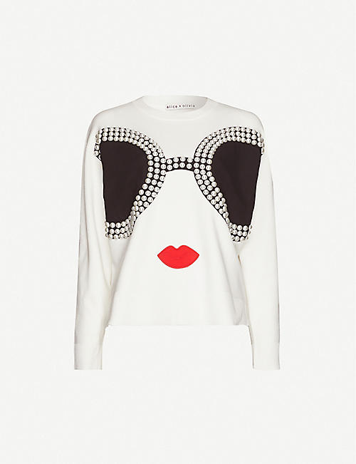 ALICE & OLIVIA Gleeson Staceface stretch-wool jumper