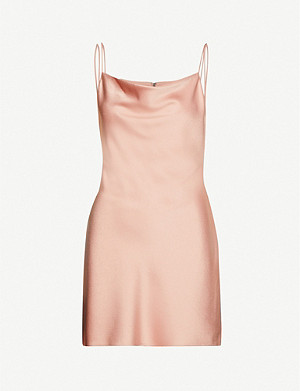 ALICE & OLIVIA Harmony satin mini dress
