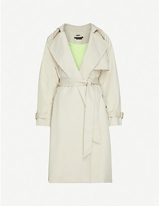 ALICE & OLIVIA: Adrien wrap shell trench coat