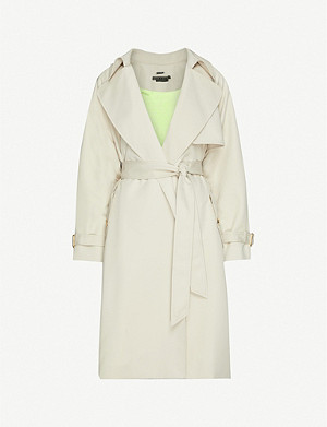 ALICE & OLIVIA Adrien wrap shell trench coat