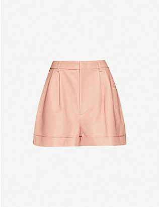 ALICE & OLIVIA: Conry high-rise leather shorts