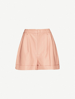 ALICE & OLIVIA Conry high-rise leather shorts