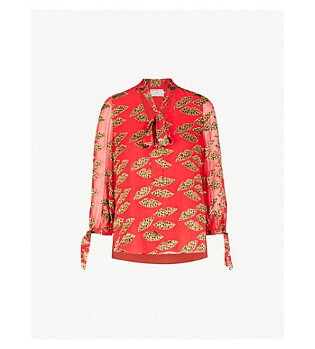 1c8a6d2807ee ALICE   OLIVIA Sheila devoré blouse (Cheetah