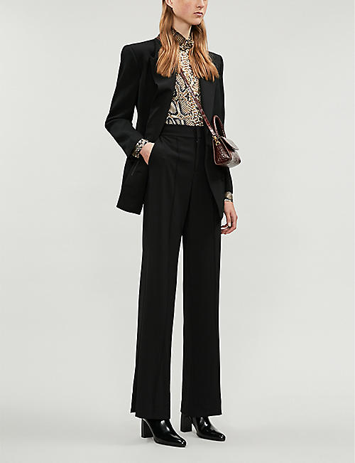 ALICE & OLIVIA Dylan high-waist wide-leg crepe trousers
