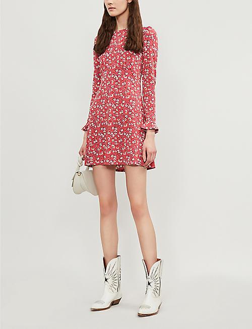 e958d6ec2 FREE PEOPLE Say Hello floral-print crepe mini dress