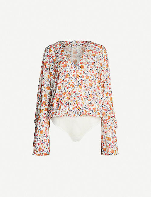 FREE PEOPLE She's Dainty floral-print woven body