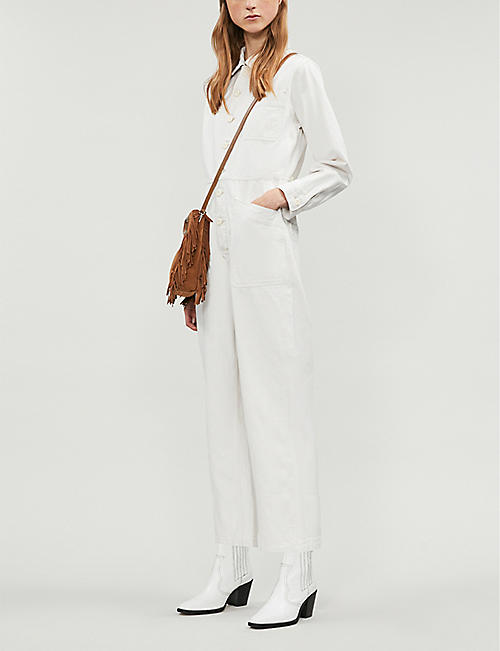 FREE PEOPLE Gia cotton-and-linen blend jumpsuit
