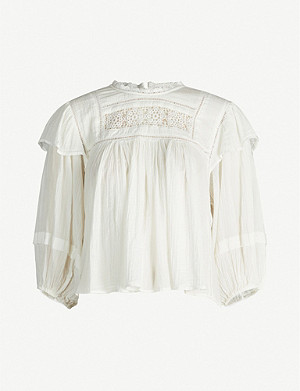 FREE PEOPLE laura 棉混合 blouse