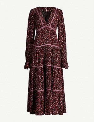 FREE PEOPLE Take A Little Time crepe maxi dress