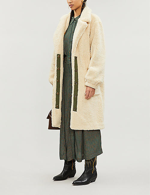 FREE PEOPLE Tessa longline teddy coat