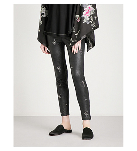 6f6baf28b2239b FREE PEOPLE - Embellished vegan-leather leggings | Selfridges.com