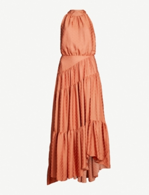 FREE PEOPLE Wild Heart tonal polka dot maxi dress