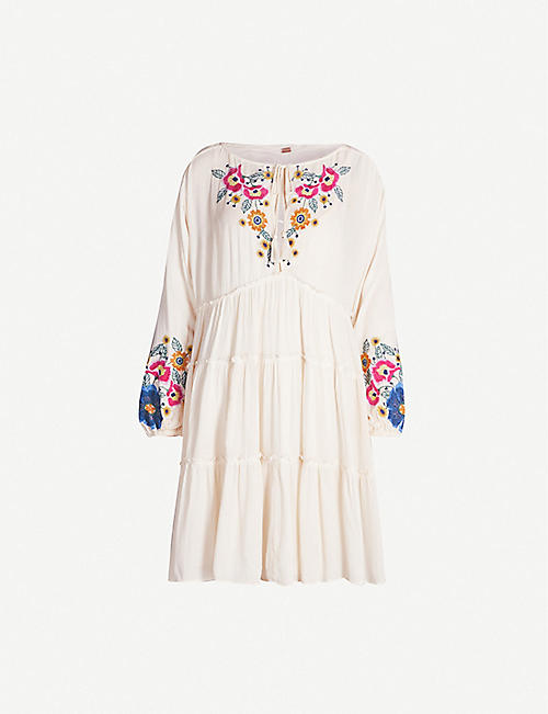 668d4a2bbd47f FREE PEOPLE Spell On You floral-embroidered rayon mini dress