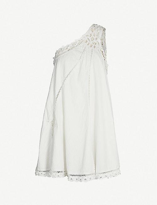f3723d5d72 FREE PEOPLE Billie Battenburg one-shoulder cotton mini dress