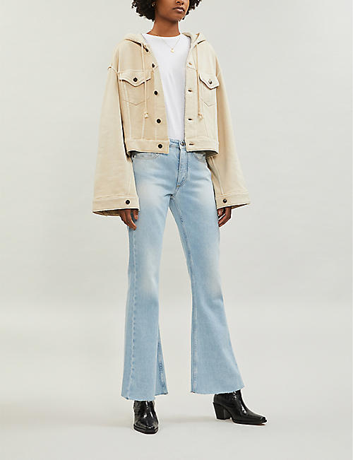 FREE PEOPLE Dreamers cotton-blend jacket