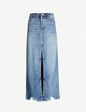 FREE PEOPLE Rhiannon denim maxi skirt