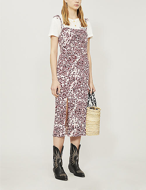 c501674128aa FREE PEOPLE Showstopper floral-print strappy woven dress