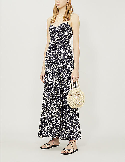 45cc3e4310 FREE PEOPLE Under The Moonlight floral-print rayon-blend maxi dress