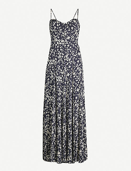 7fb77ef0f41 FREE PEOPLE Under The Moonlight floral-print rayon-blend maxi dress
