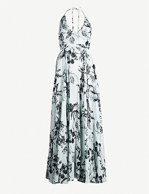 FREE PEOPLE Lille floral-print cotton maxi dress