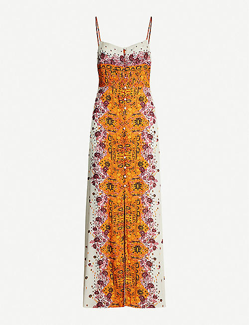 FREE PEOPLE Morning Song crepe maxi dress