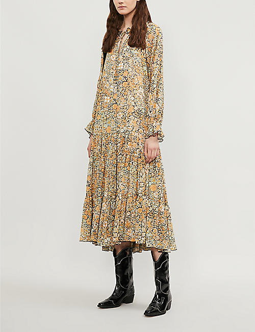 FREE PEOPLE Feeling Groovy chiffon maxi dress