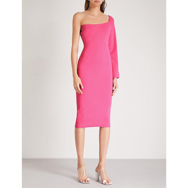 Fiorella Stretch-Knit Dress, Hot Pink
