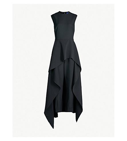 686bb5fc264 SOLACE LONDON Soraya tiered asymmetric crepe jumpsuit (Black