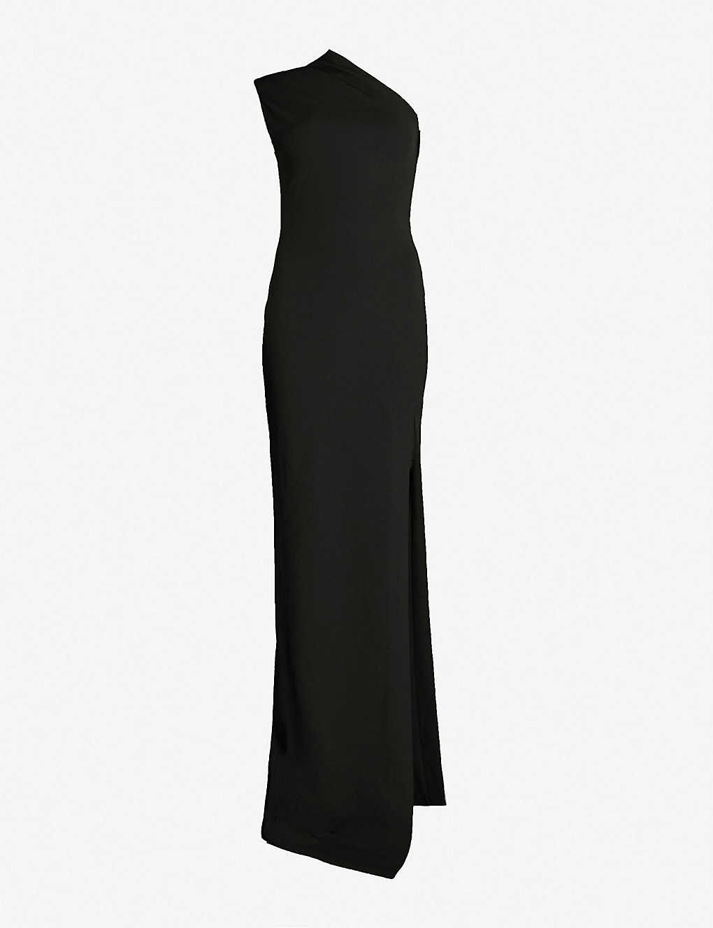 389a76e8fff SOLACE LONDON - Averie one-shoulder crepe maxi dress