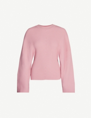 SOLACE LONDON Raynel ribbed-knit jumper