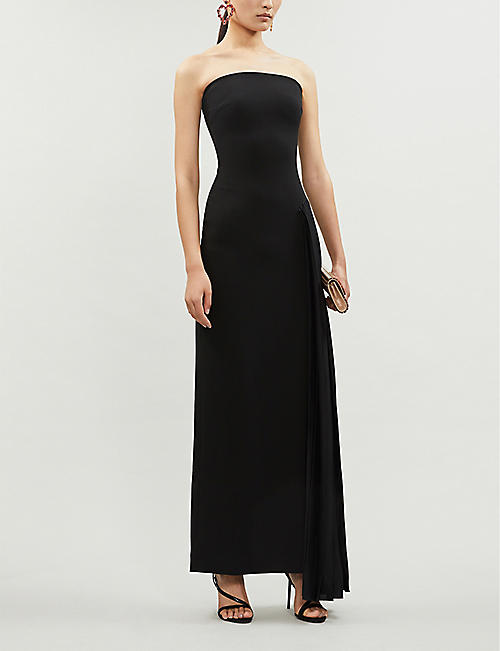 SOLACE LONDON Dolly fitted stretch-ponté maxi dress