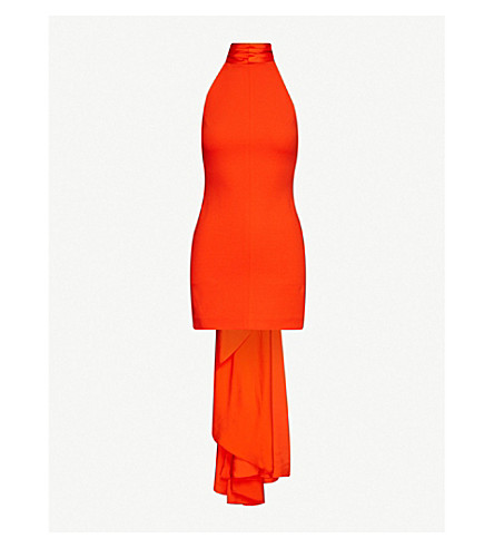 Solace London Maja halterneck stretch-crepe mini dress