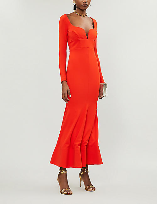SOLACE LONDON Danica stretch-crepe gown