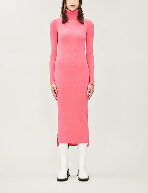 SHOREDITCH SKI CLUB Sofia turtleneck cashmere midi dress