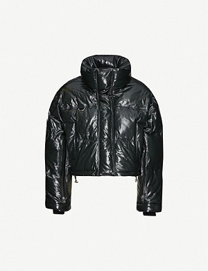 SHOREDITCH SKI CLUB Scala quilted padded leather jacket