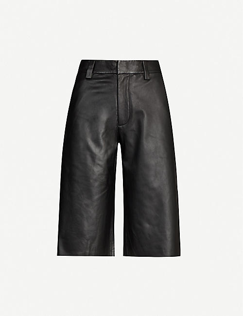 SHOREDITCH SKI CLUB: Abbot mid-rise wide-leg leather trousers